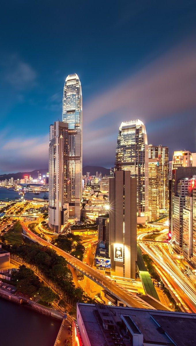 Wallpaper Lights of Hong Kong Vertical