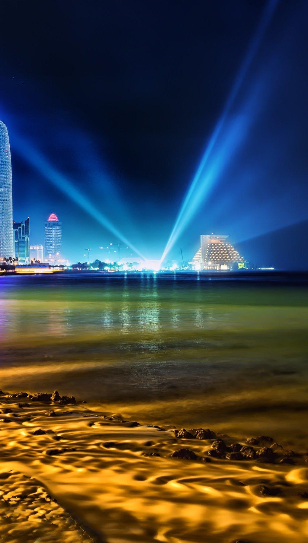 Wallpaper Lights in Doha Qatar Vertical