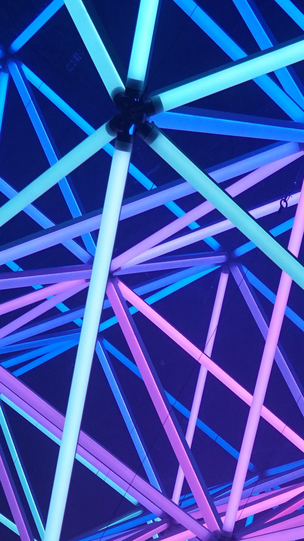 Wallpaper Neon lights Vertical
