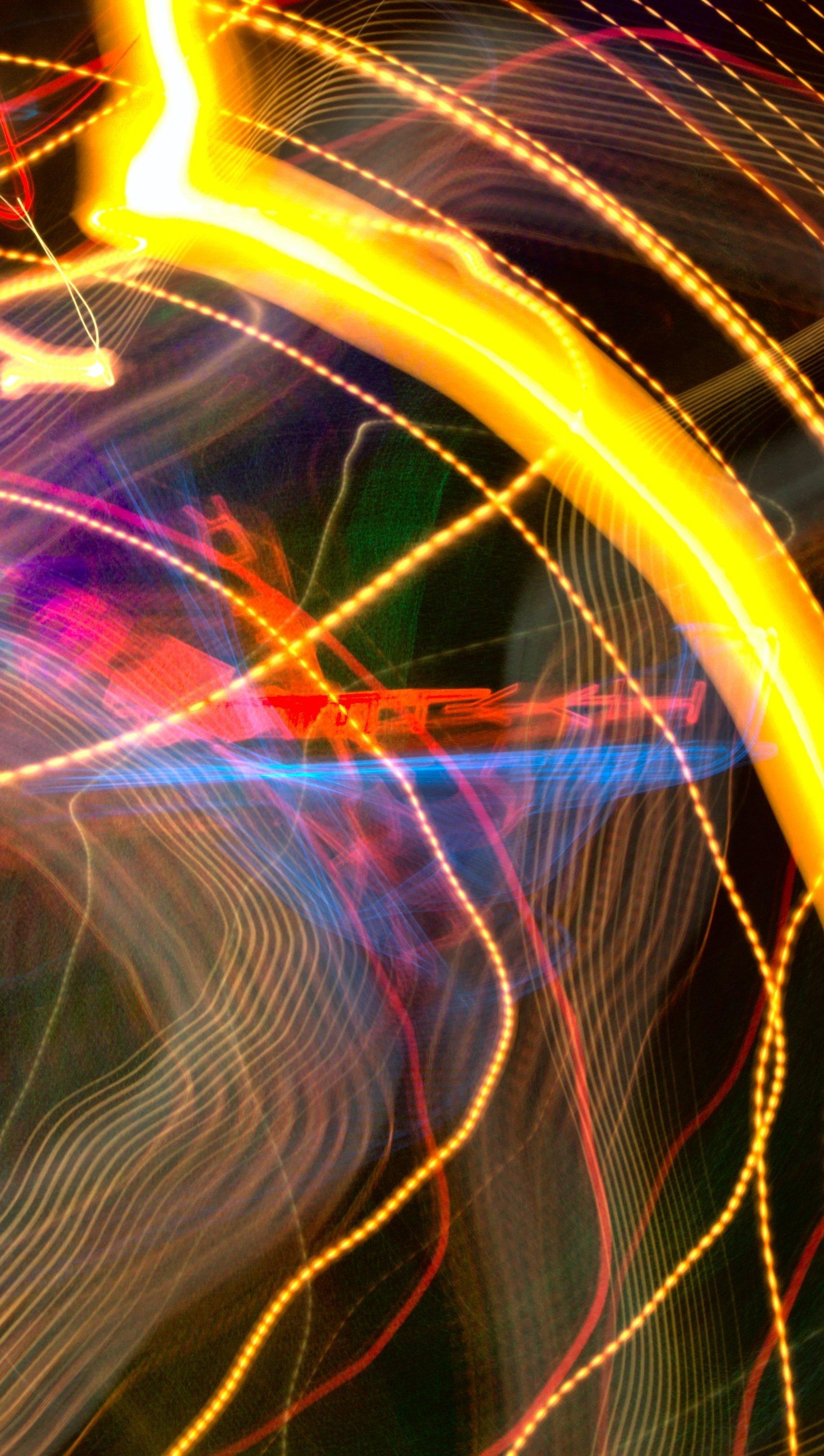 Fondos de pantalla Luces neon en movimiento Vertical