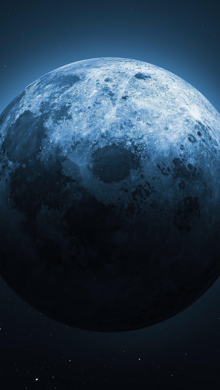 Fondos de pantalla Luna medio iluminada Vertical