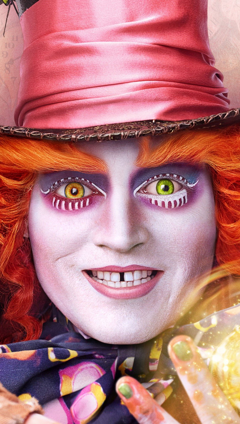 Wallpaper Alicia's Mad Hatter Through the Looking Glass Vertical