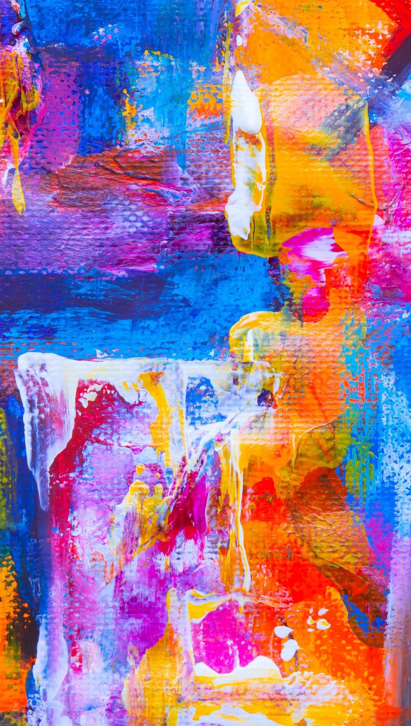 Fondos de pantalla Manchas de pintura Abstracto Vertical