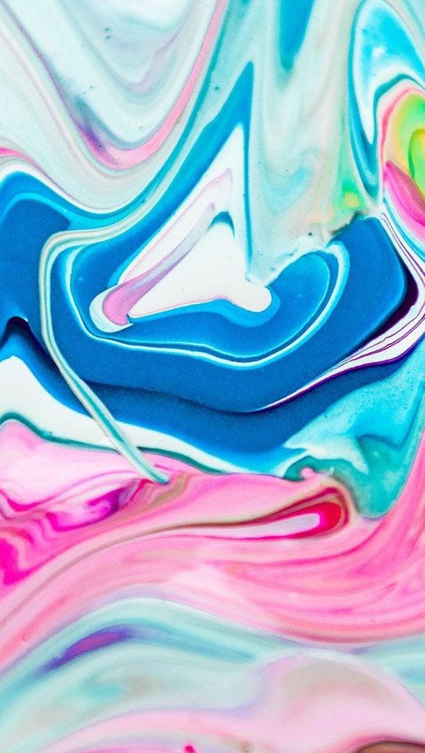 Fondos de pantalla Manchas de pintura liquida Vertical