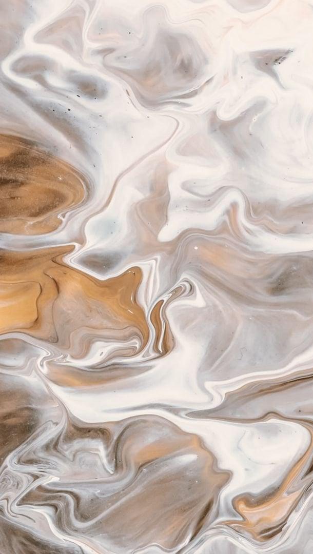 Fondos de pantalla Manchas de pintura liquida café y blanca Vertical