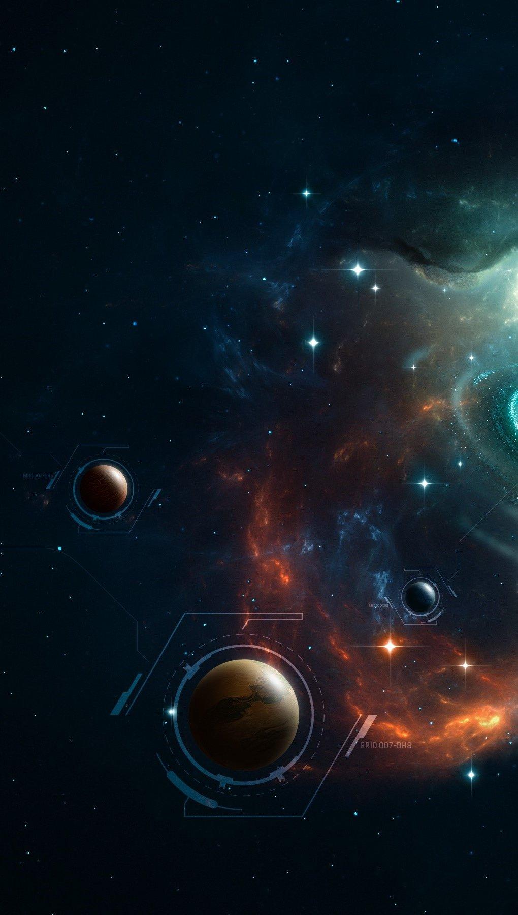 Fondos de pantalla Maravilloso universo Vertical