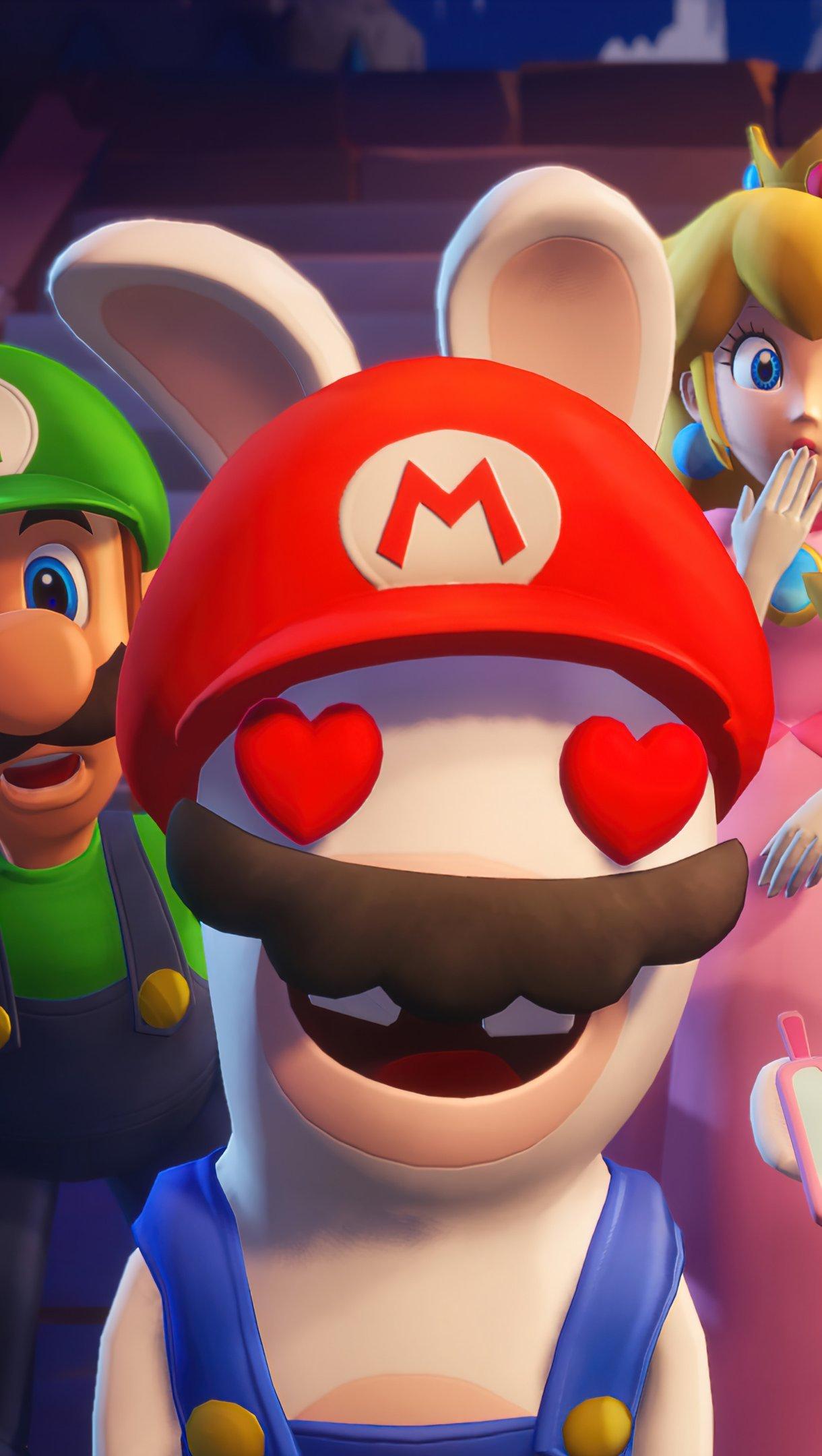 Fondos de pantalla Mario + Rabbids Sparks of Hope Vertical