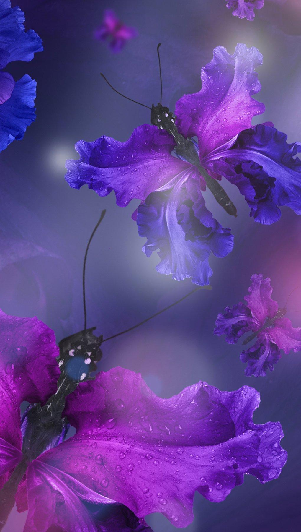Fondos de pantalla Mariposas como flores Vertical