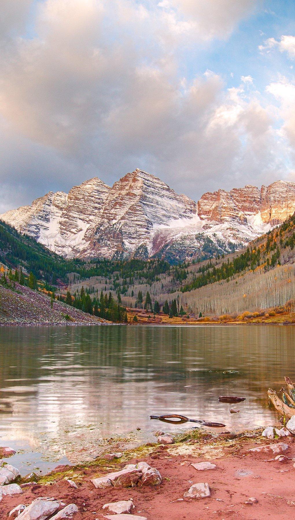Fondos de pantalla Maroon Lake Aspen en colorado Vertical