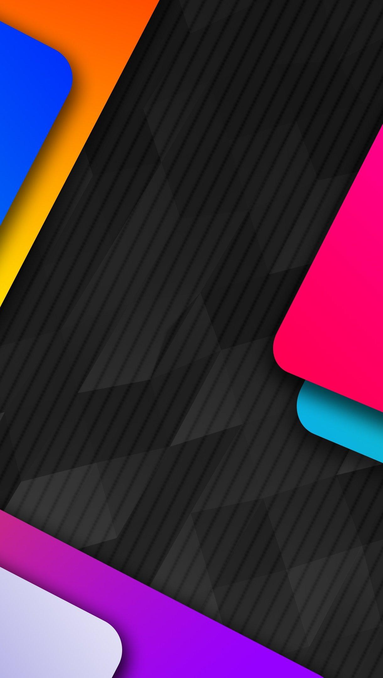 Wallpaper Material Design Metal Colors Vertical