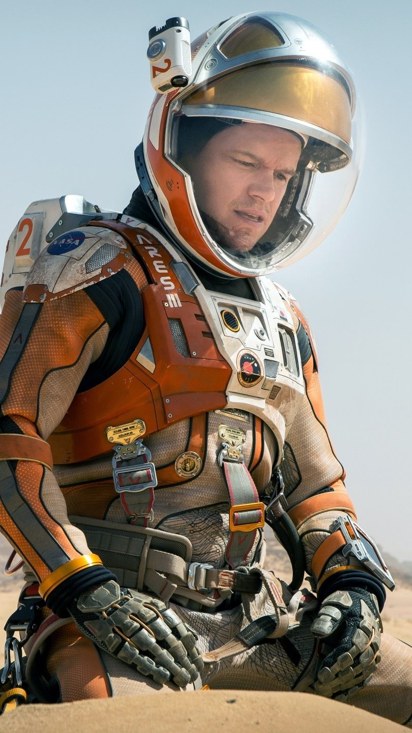 Wallpaper Matt Damon at The Martian Vertical
