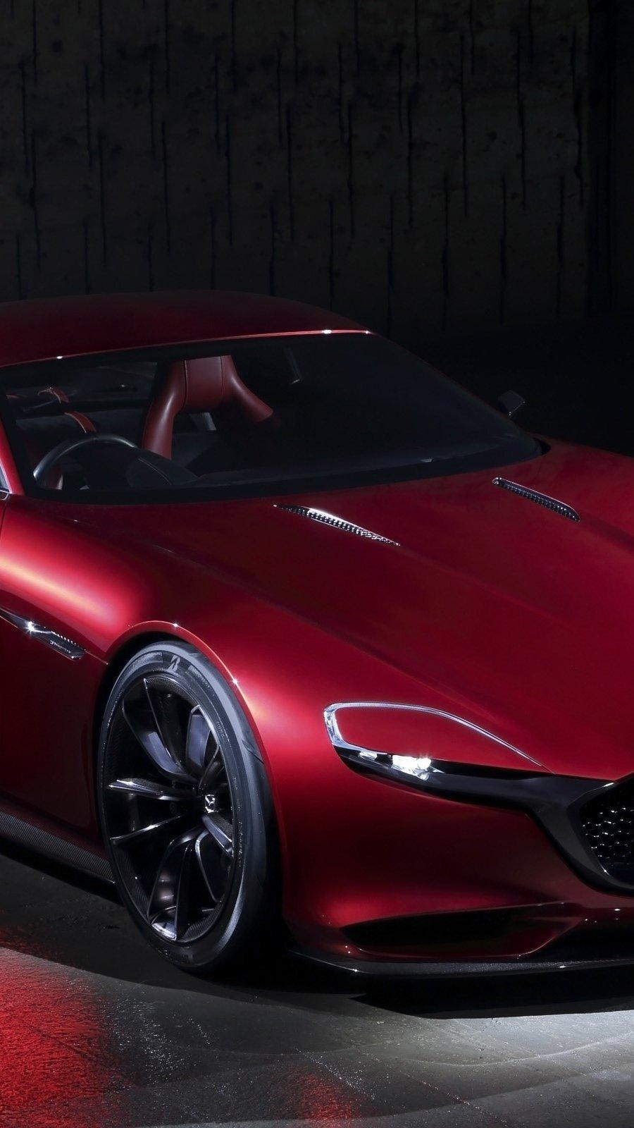 Wallpaper Mazda RX Vision Concept Vertical