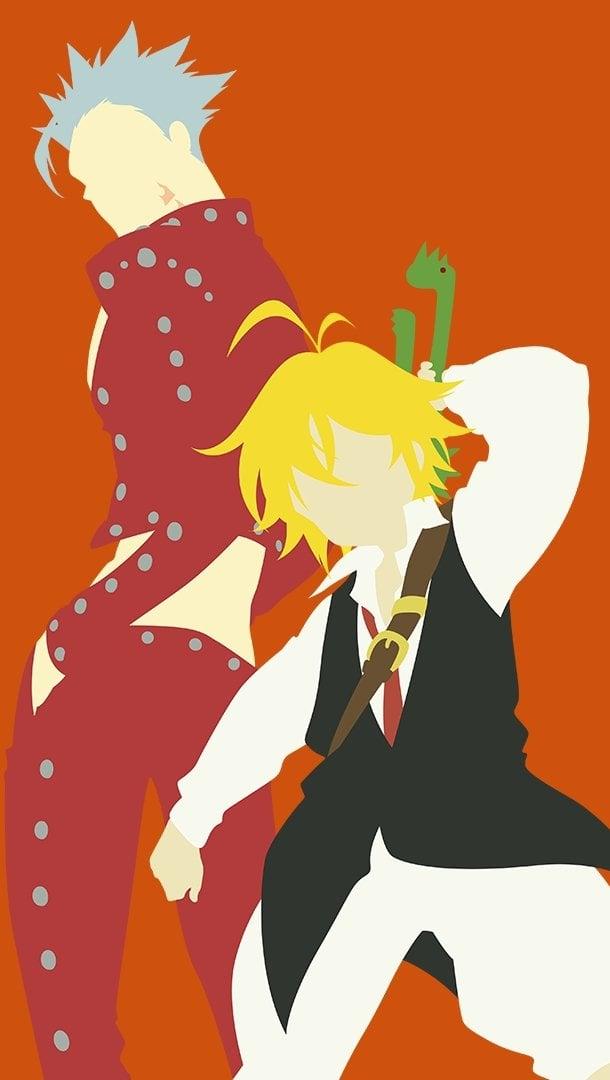 Anime Wallpaper Meliodas and Ban from Seven Deadly Sins Vertical