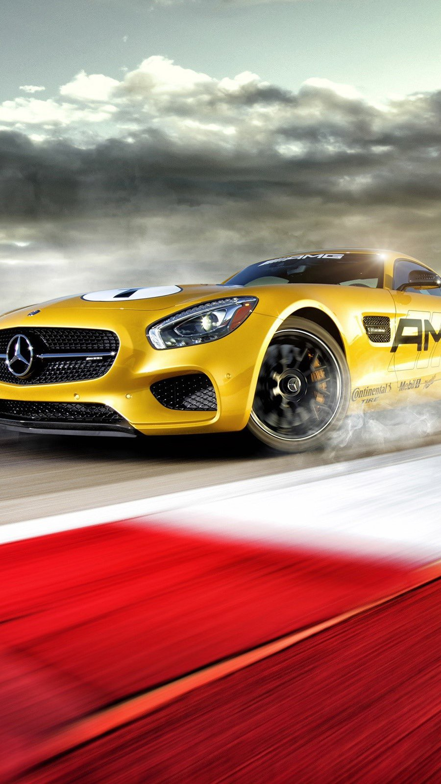 Wallpaper Mercedes AMG GT S on a track Vertical