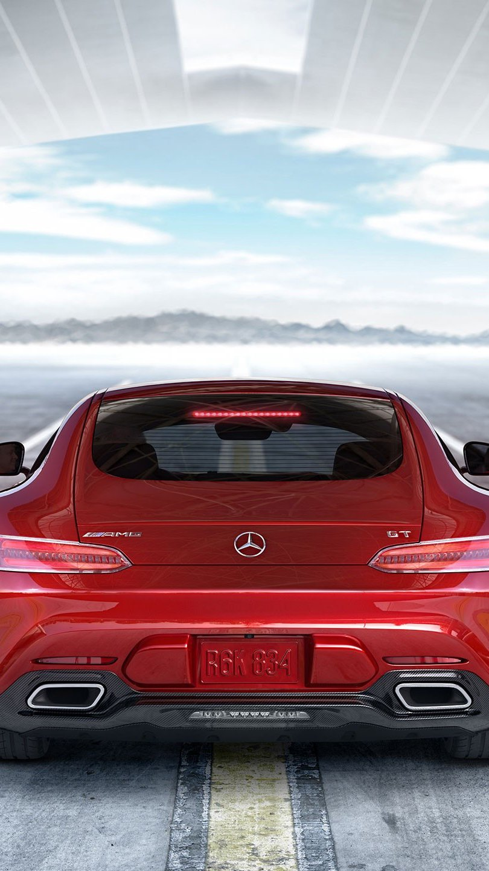 Wallpaper Mercedes AMG GT S red Vertical