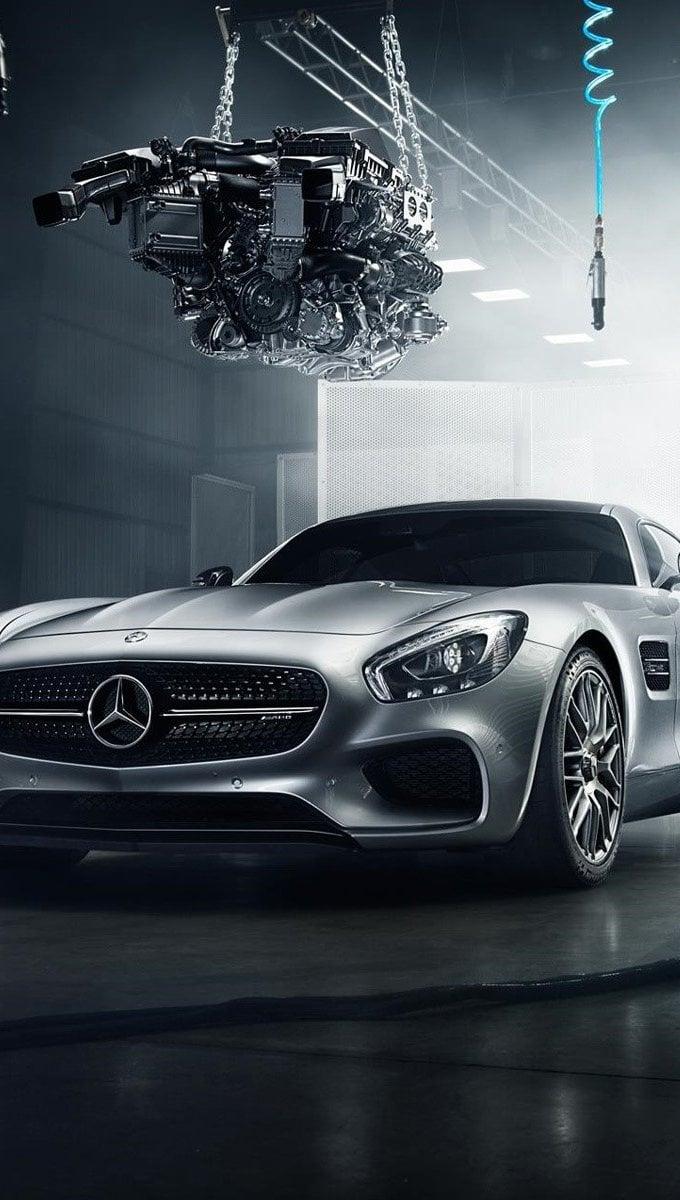 Fondos de pantalla Mercedes Benz AMG GT S gris Vertical