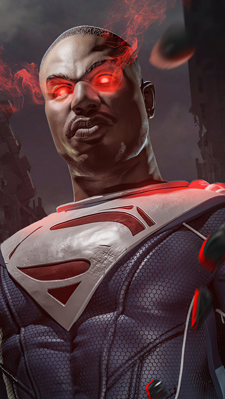 Wallpaper Michael B Jordan as Superman Vertical