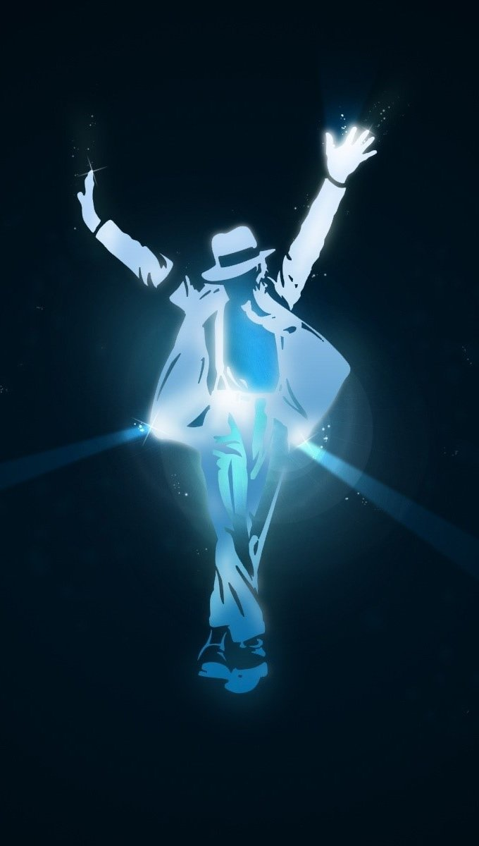 Wallpaper Michael Jackson in lights Vertical