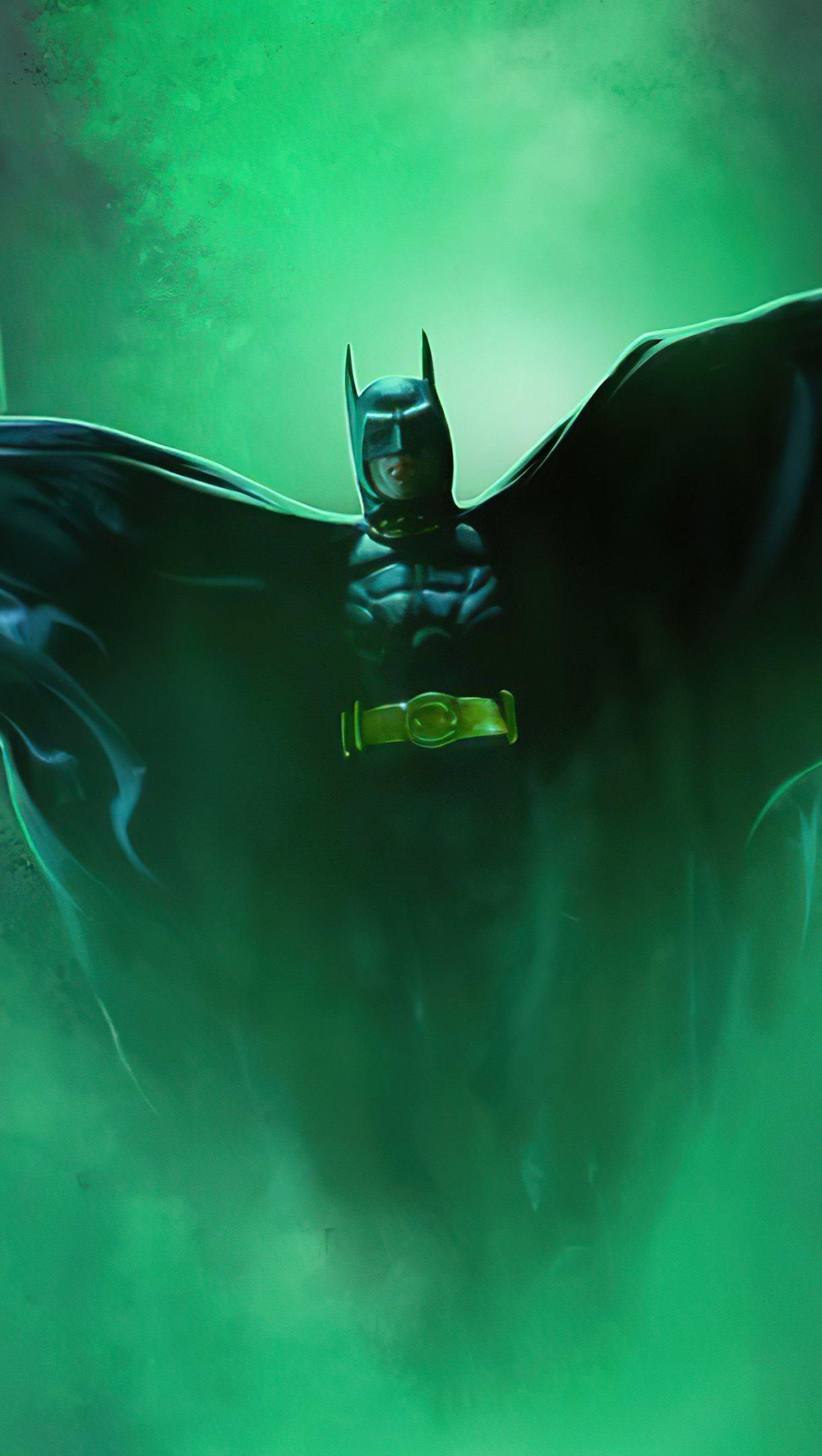 Wallpaper Michael Keaton as Batman Fanart Vertical