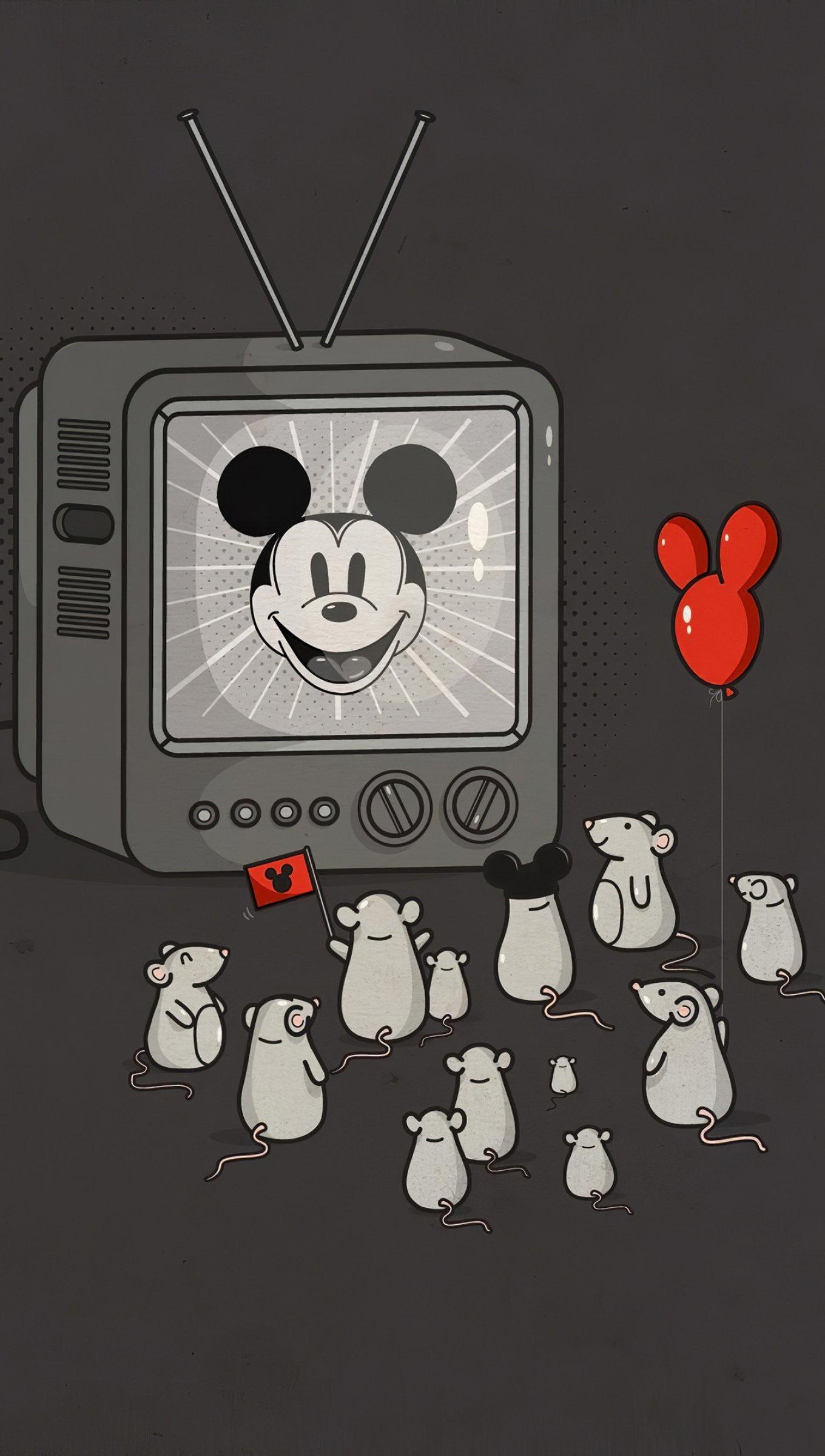 Fondos de pantalla Mickey Mouse en televisión Vertical