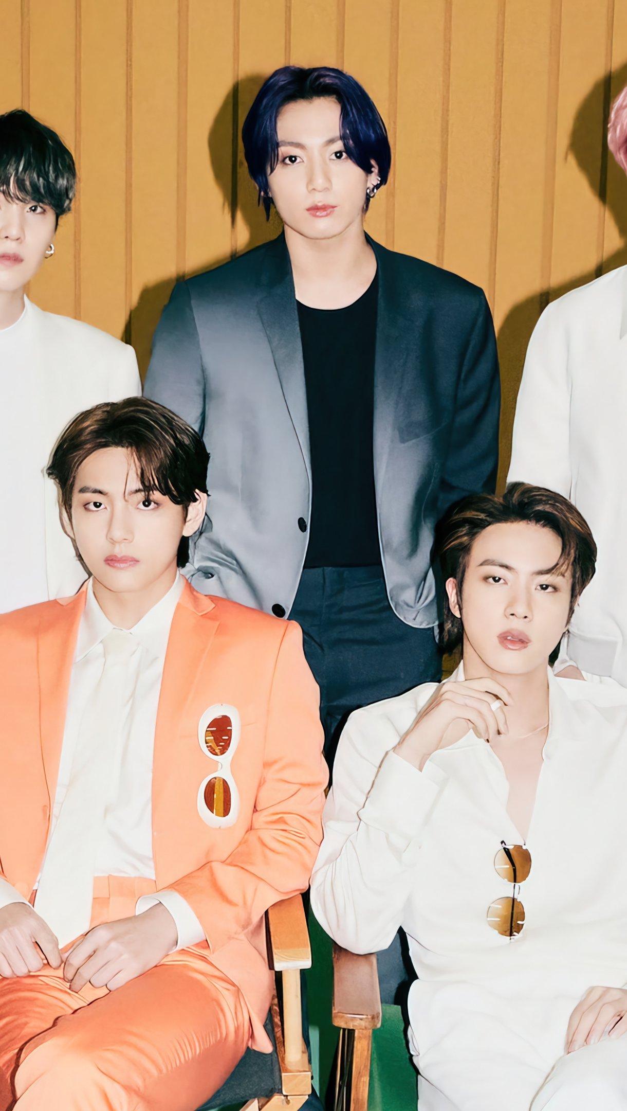 Wallpaper BTS members Butter Vertical
