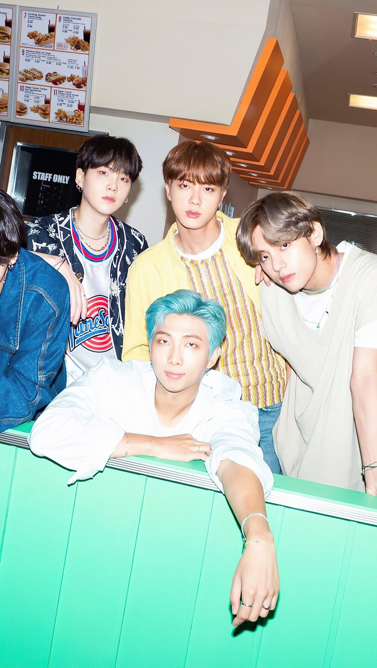 Wallpaper BTS Group members Vertical