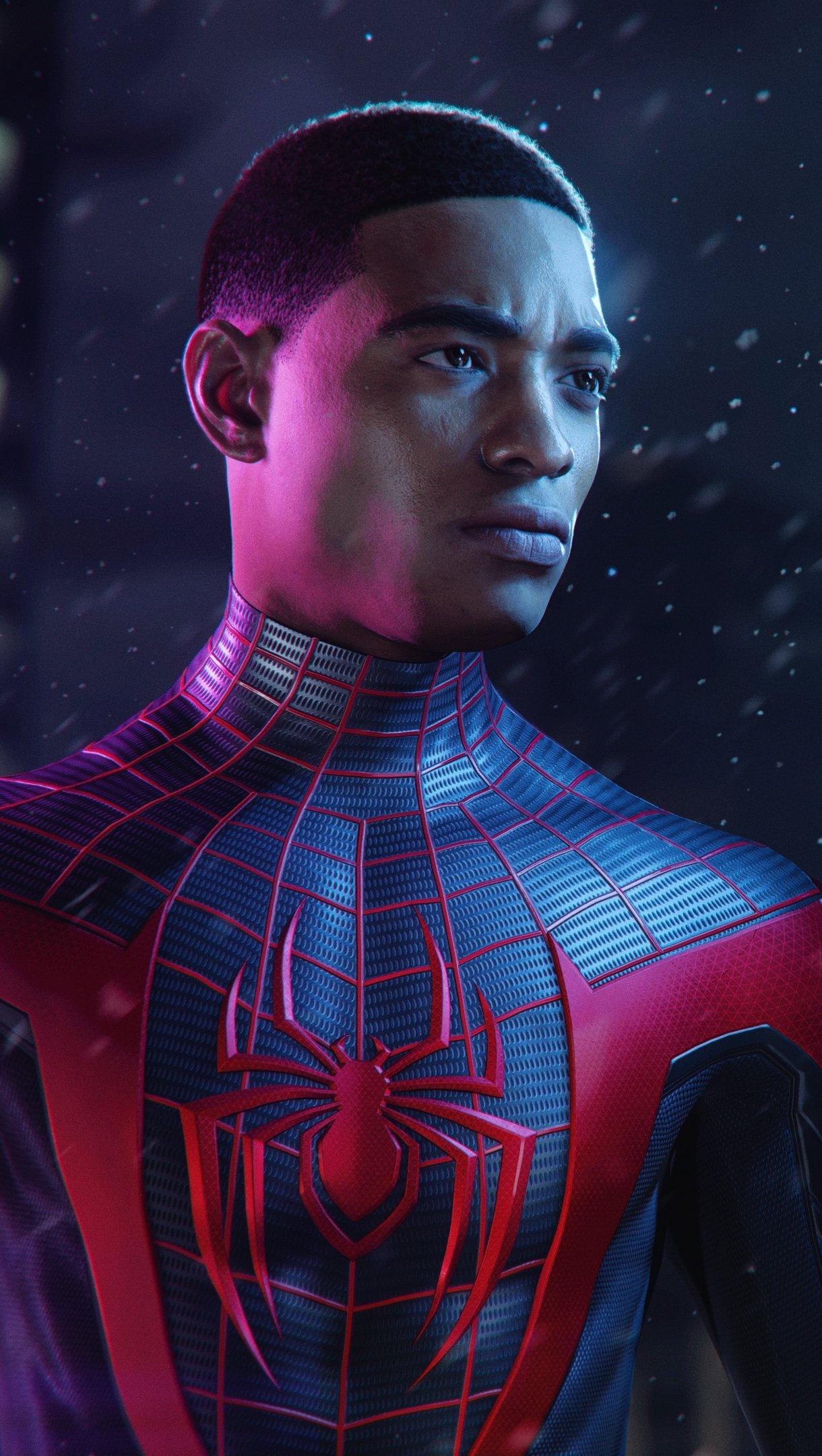 Fondos de pantalla Miles Morales como El hombre araña Vertical