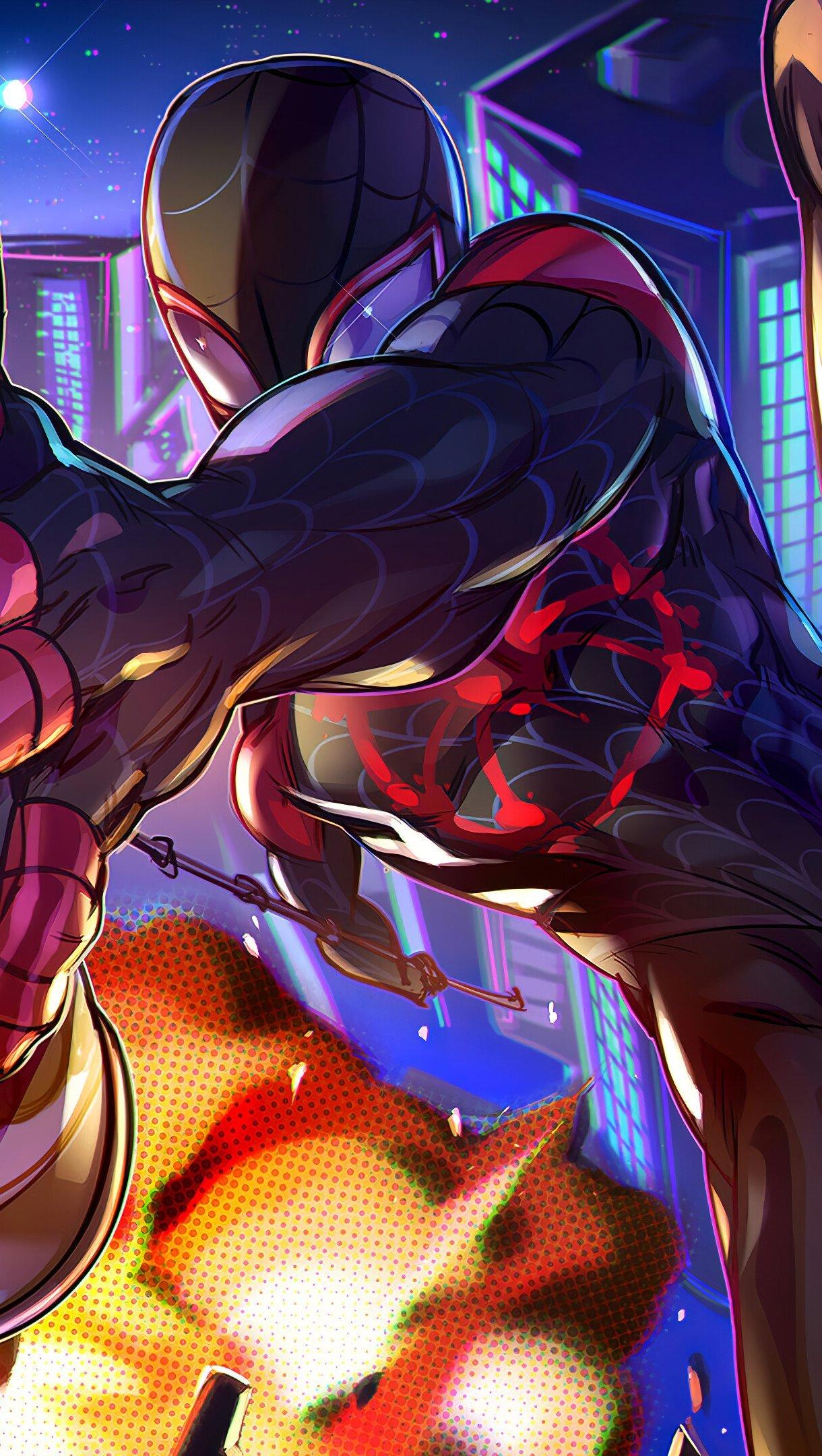 Fondos de pantalla Miles Morales de SpiderMan: Un nuevo universo Fanart Vertical