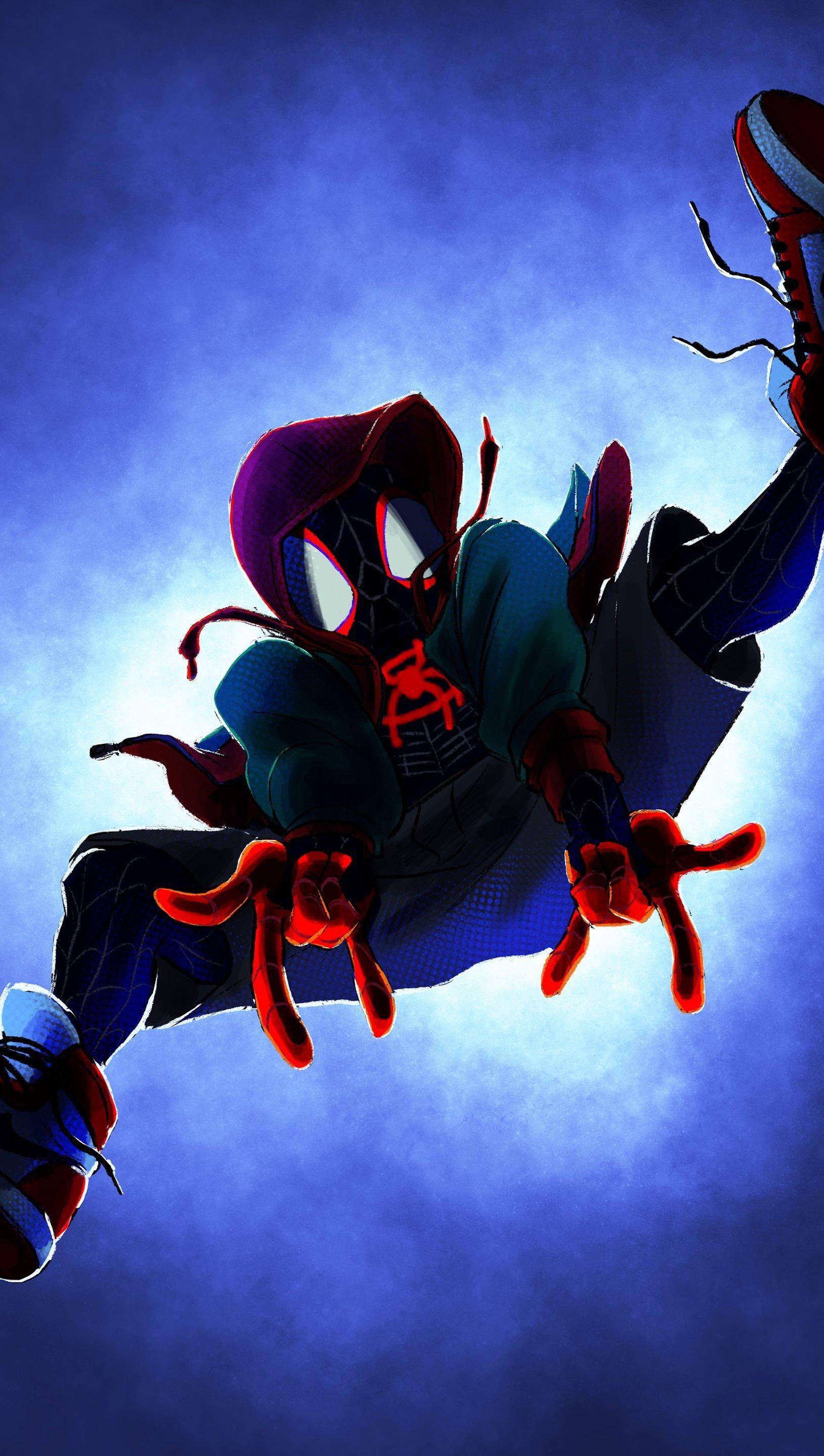 Fondos de pantalla Miles Morales en Spider-Man Un nuevo universo Vertical