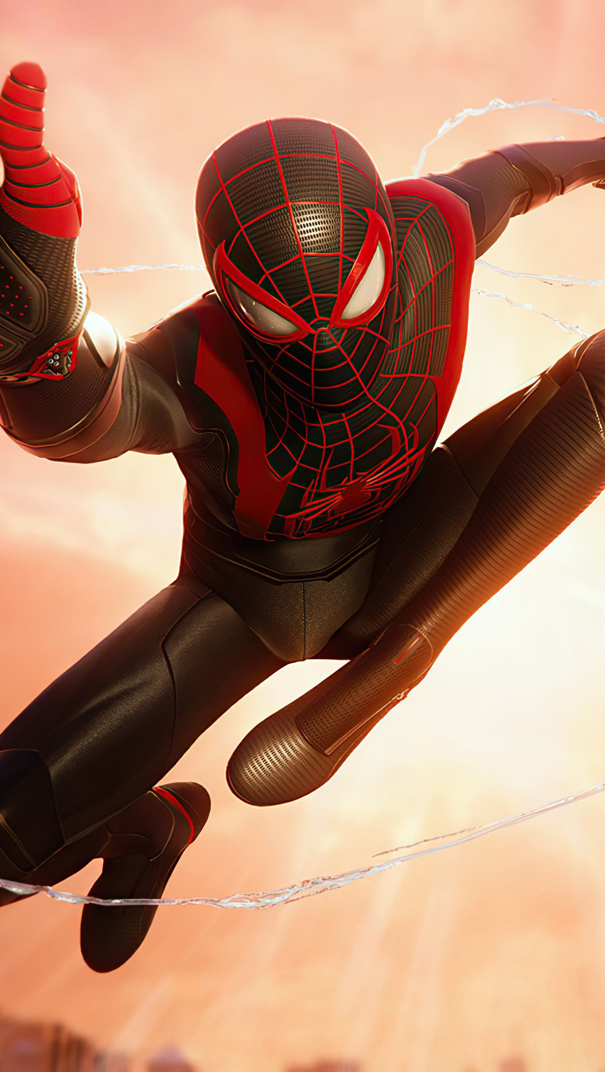 Wallpaper Miles Morales and Spiderman Vertical