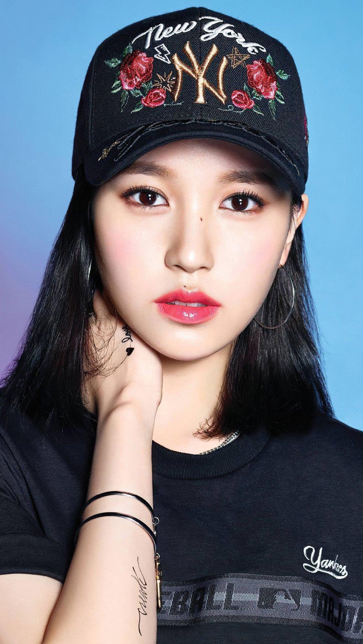 Wallpaper Mina Kpop singer Vertical