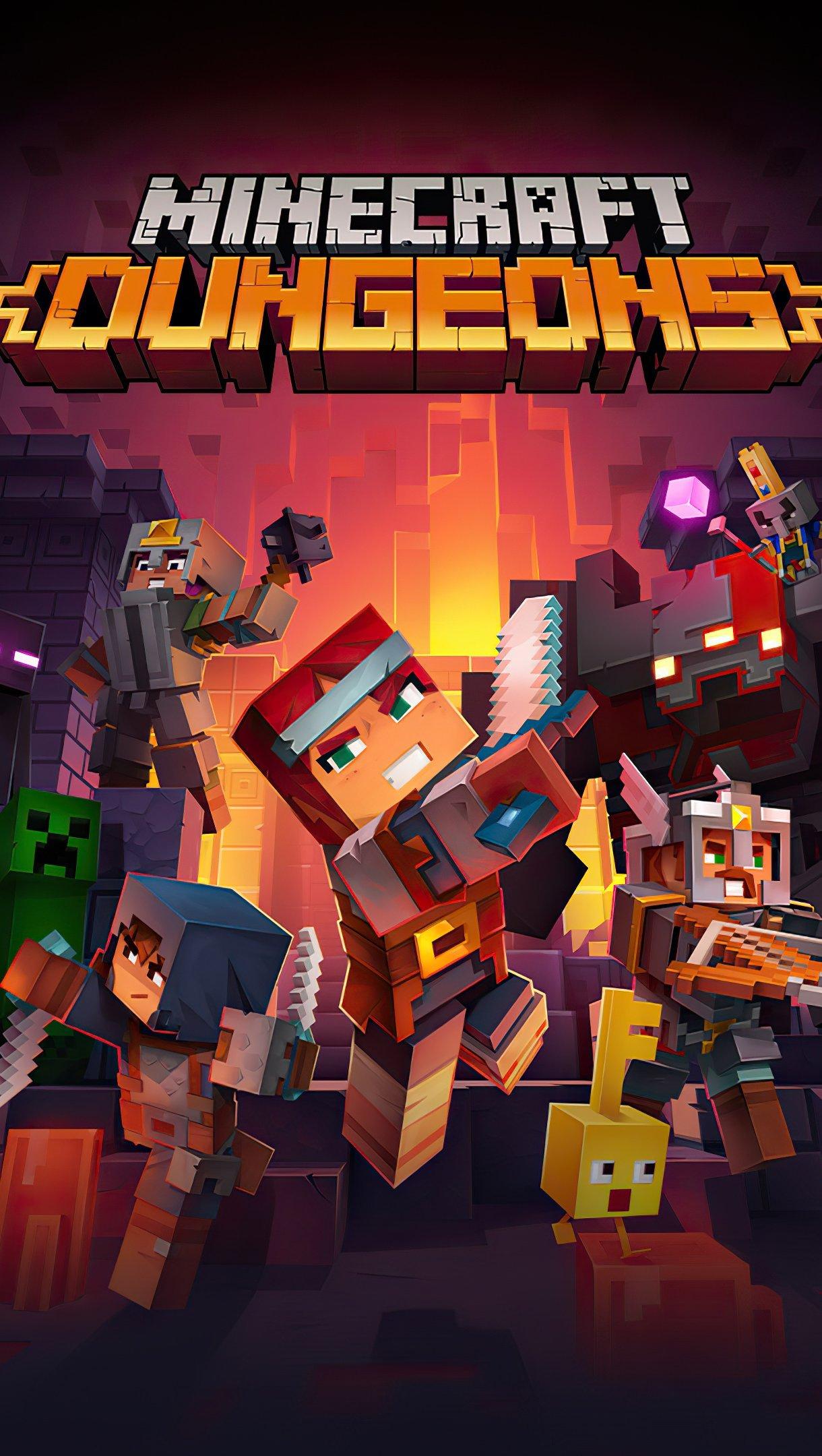 Fondos de pantalla Minecraft Dungeons Vertical