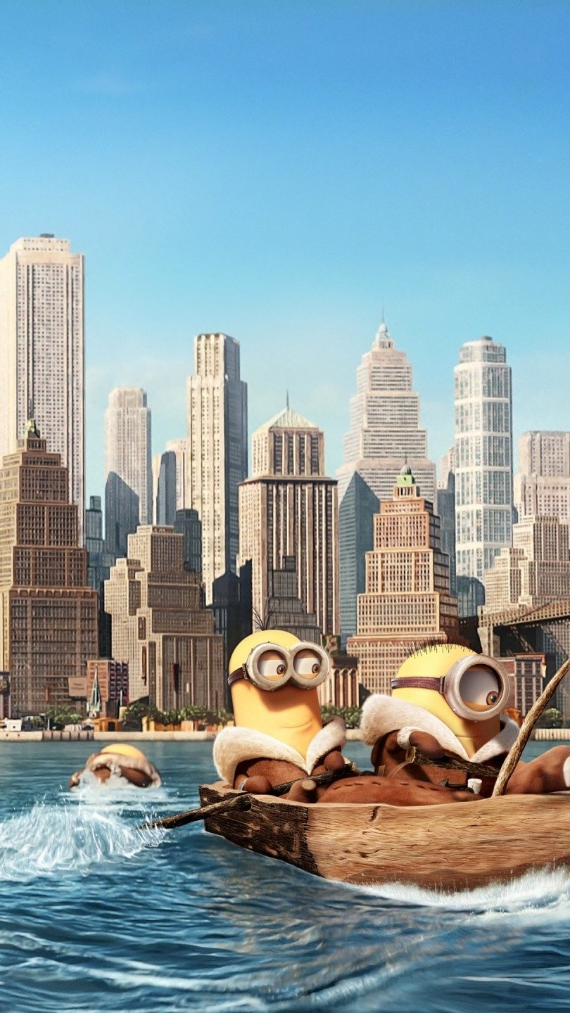 Wallpaper Minions in New York Vertical