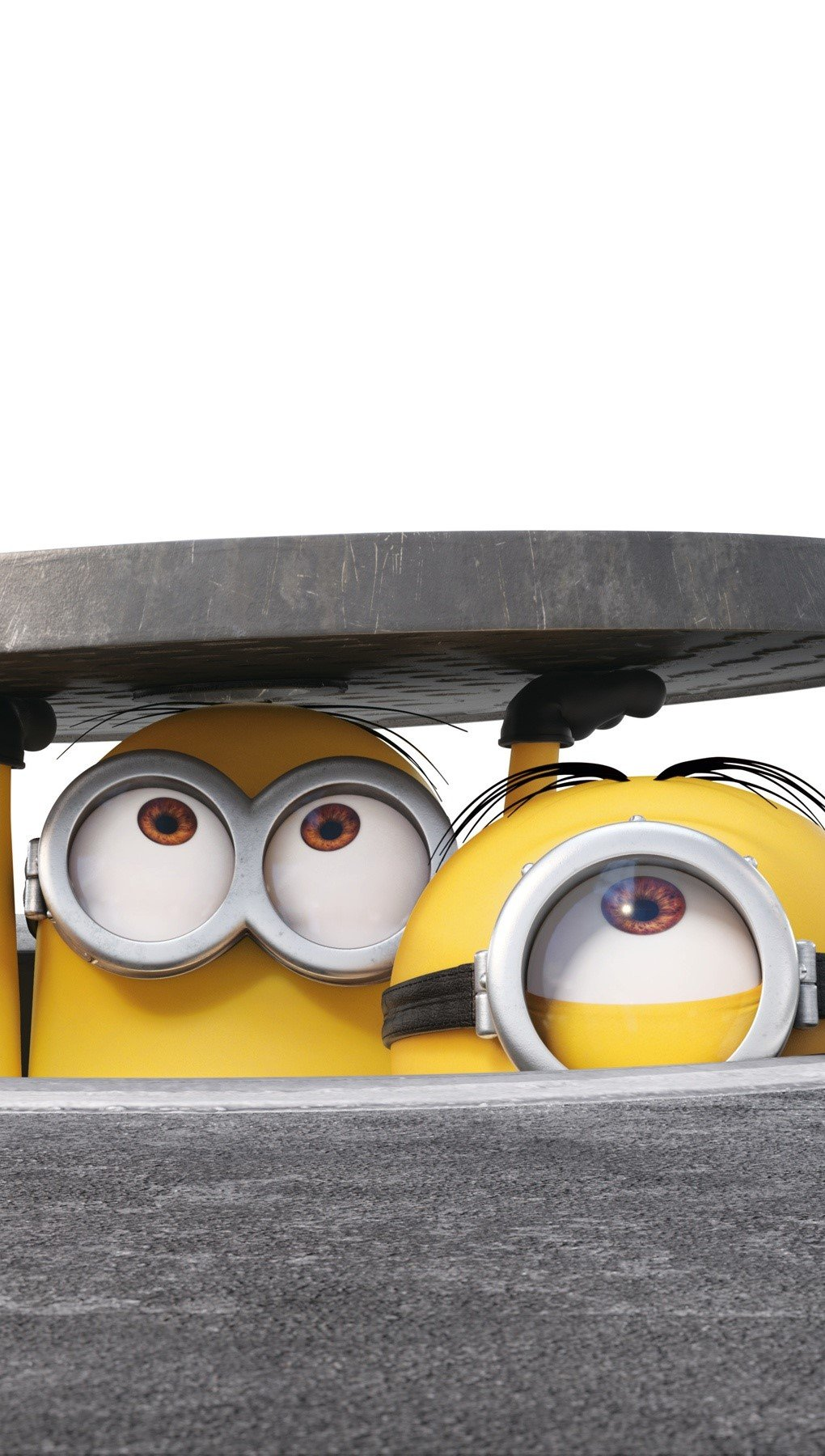 Wallpaper Minions in a sewer Vertical