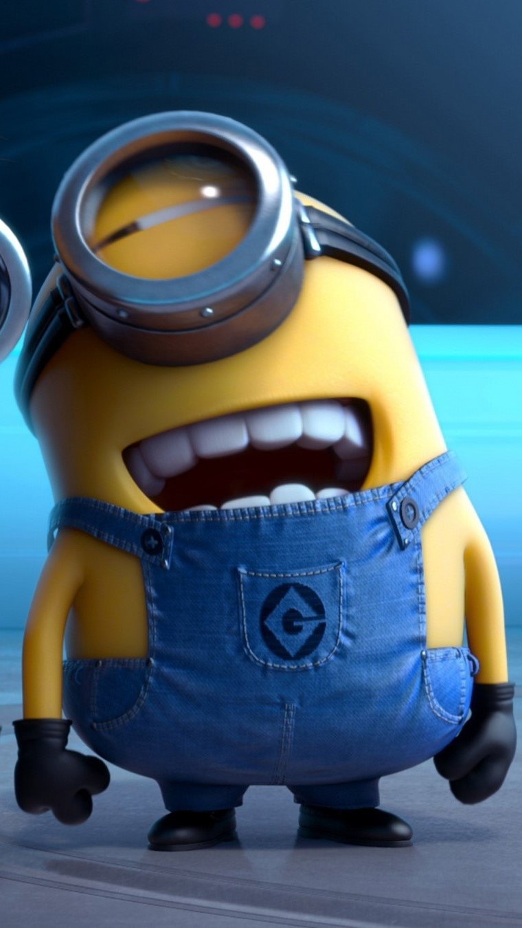 Wallpaper Minions laughing in My favorite villain 2 Vertical
