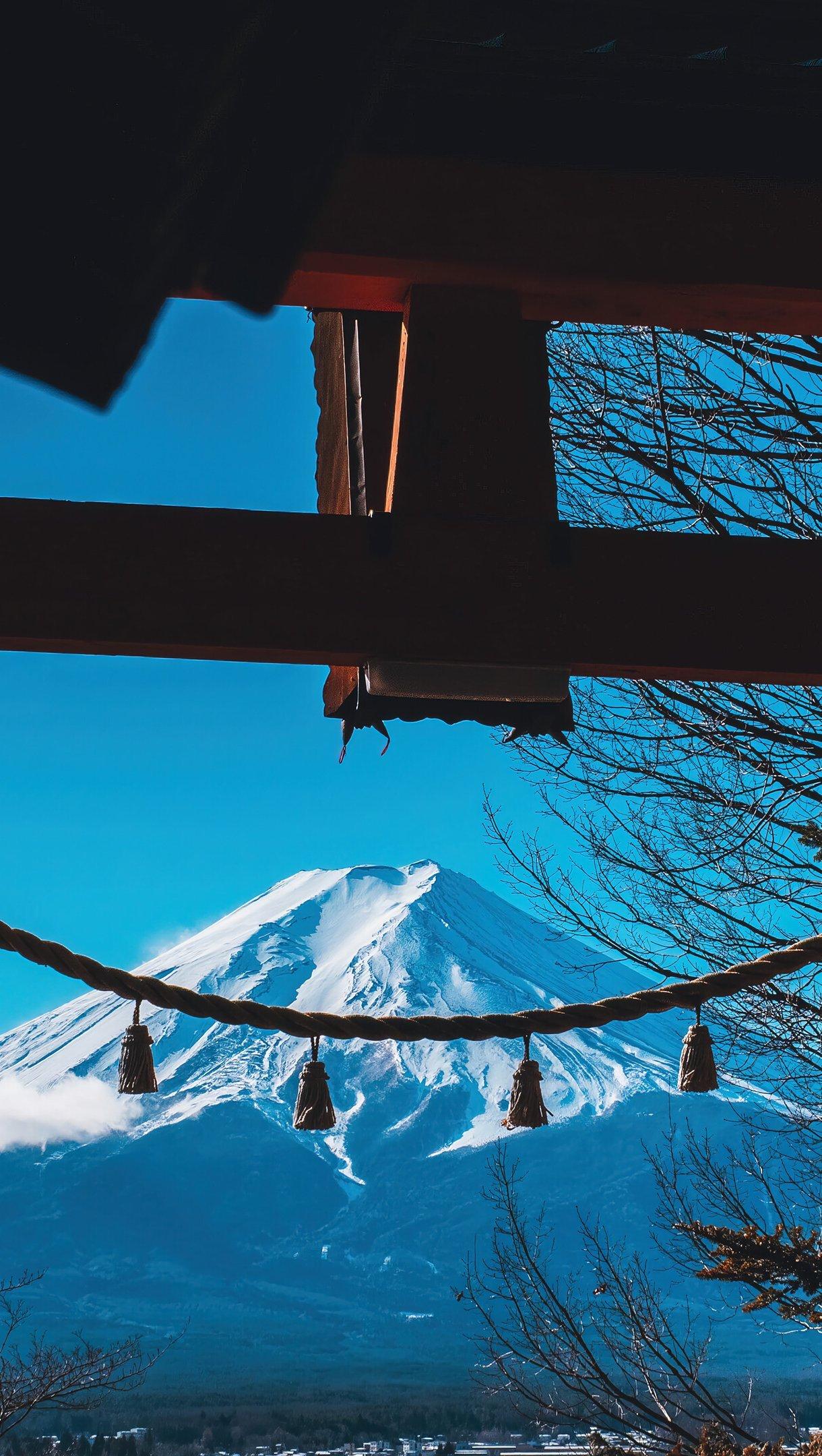 Wallpaper Mountain in Japan Vertical