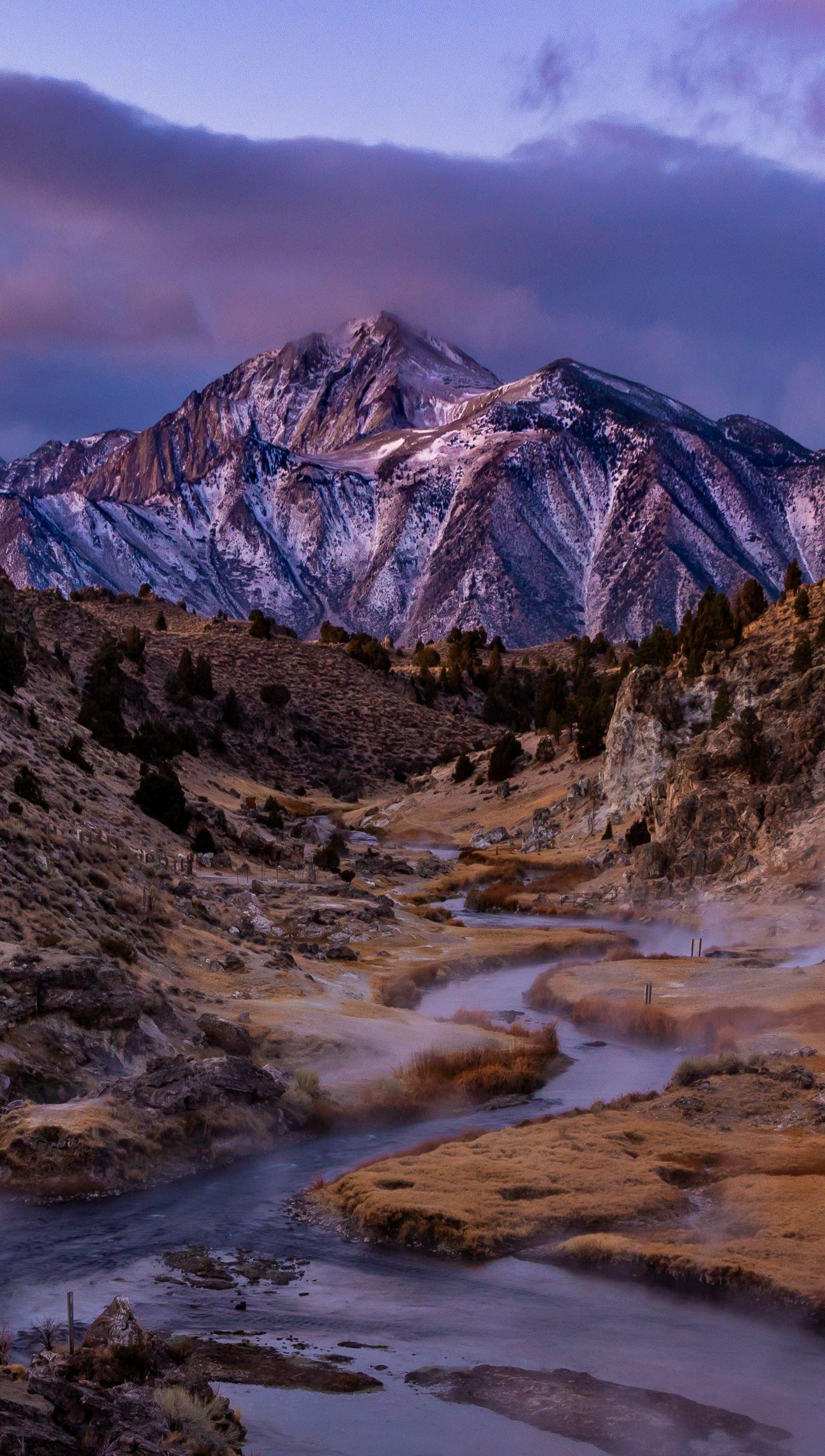 Wallpaper Mountain in cloudy scenery Vertical