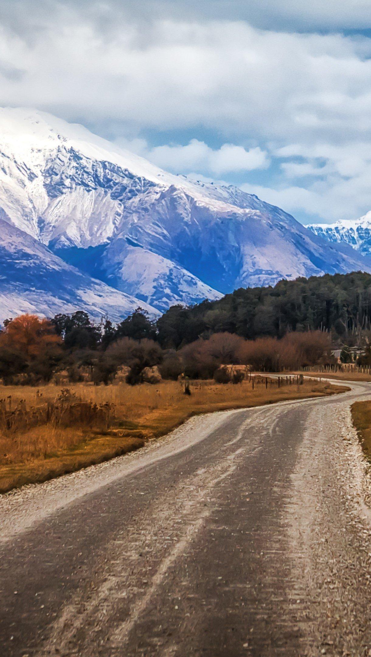 Fondos de pantalla Montaña Glenorchy en Nueva Zelanda Vertical