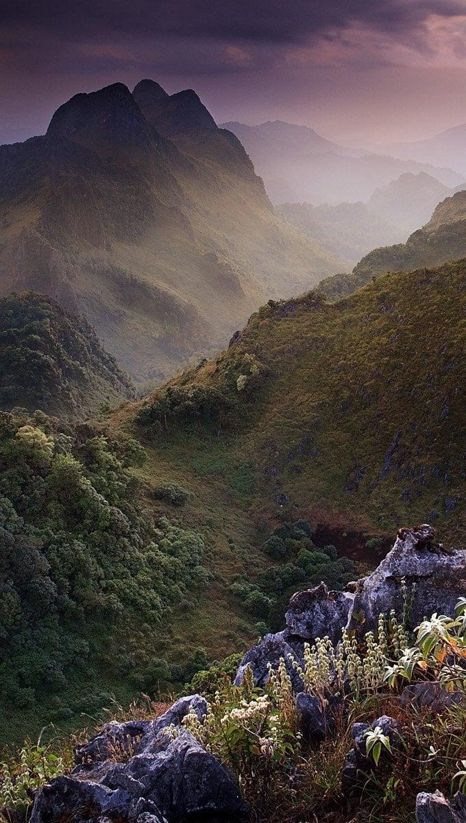 Wallpaper Limestone Mountain in Thailand Vertical