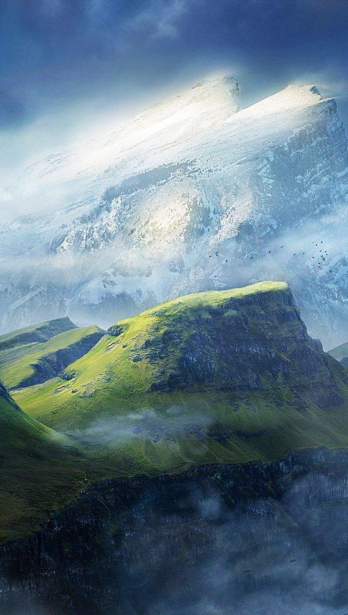 Wallpaper Mountains Vertical