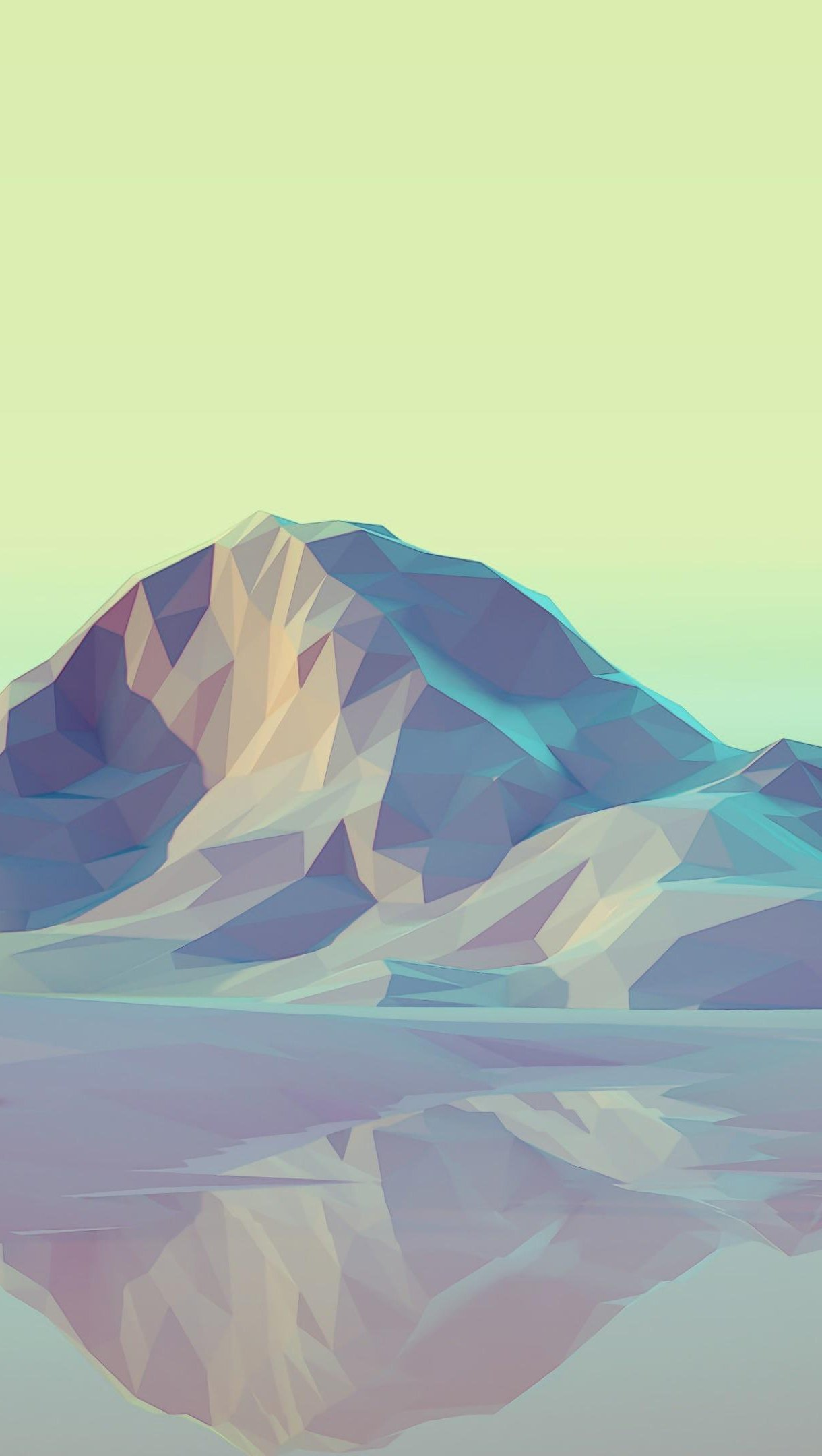 Wallpaper Mountains 3D Low Poly Vertical