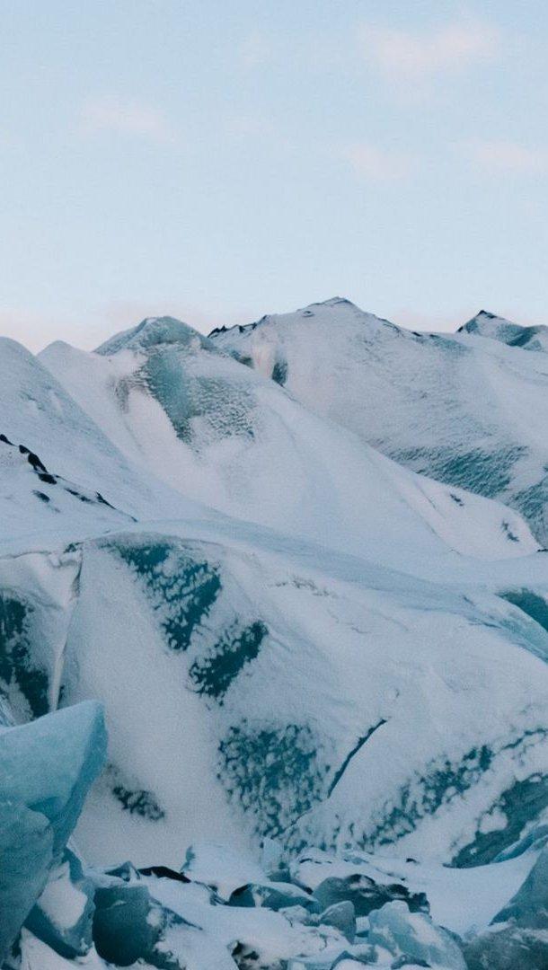 Fondos de pantalla Montañas congeladas Vertical