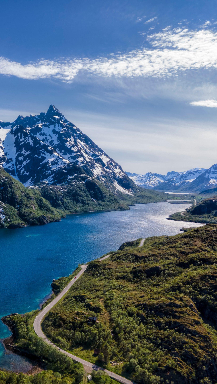 Wallpaper Mountains in Lofoten, Norway Vertical