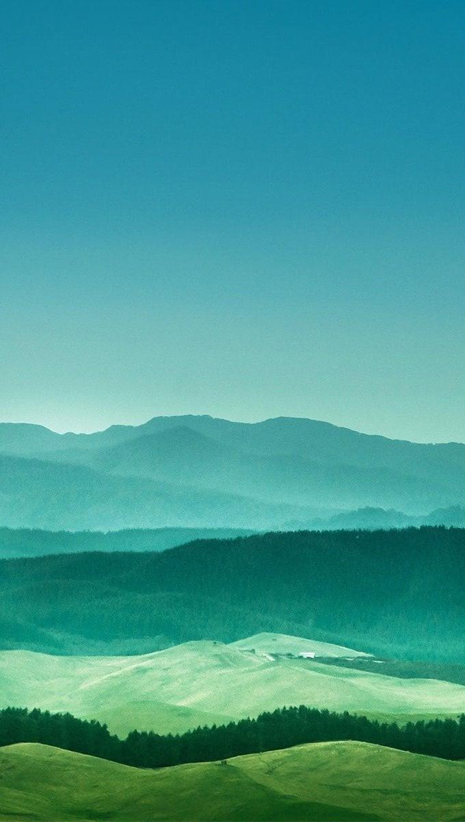 Wallpaper Distant mountains Vertical