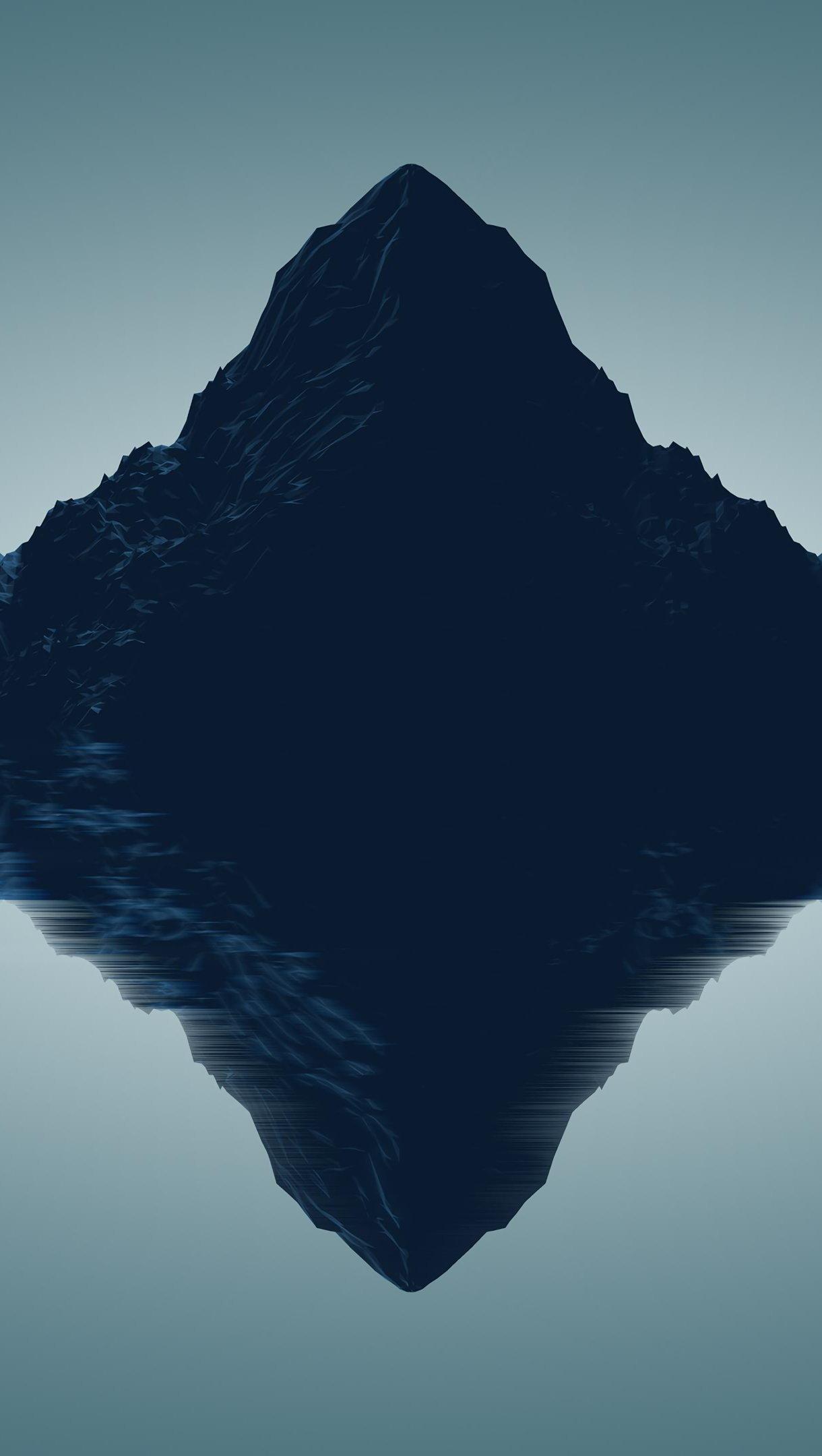 Wallpaper Mountains Minimalist Low Poly Art Vertical