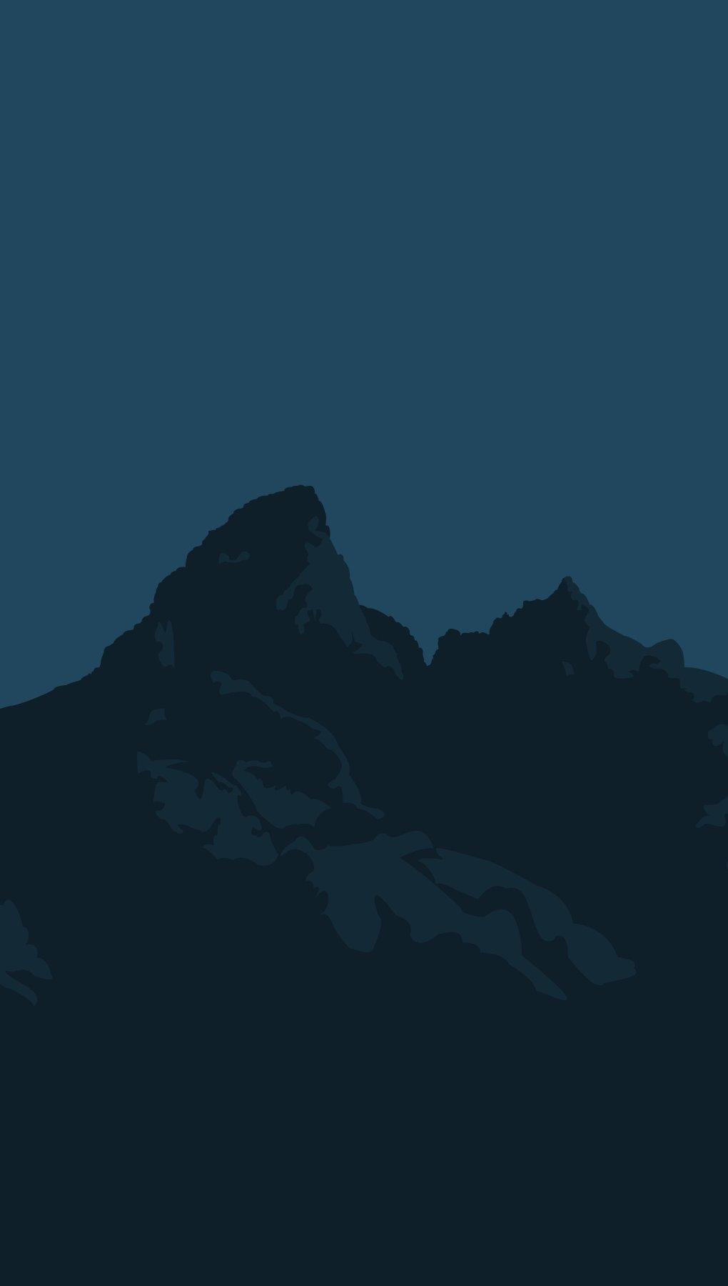 Fondos de pantalla Montañas Minimalista Flat Vertical