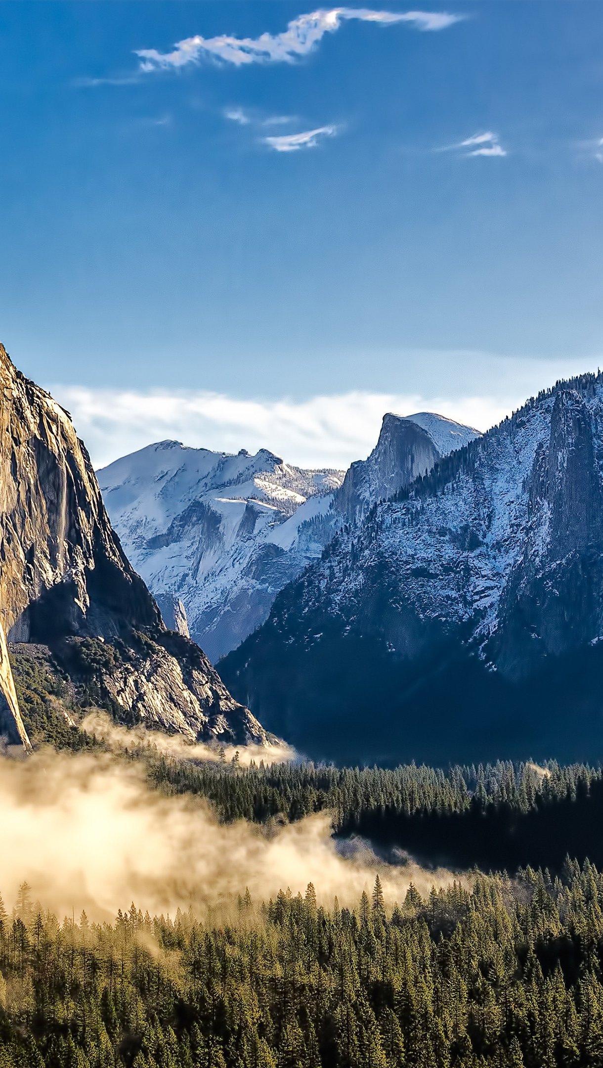 Wallpaper Snowy mountains Vertical