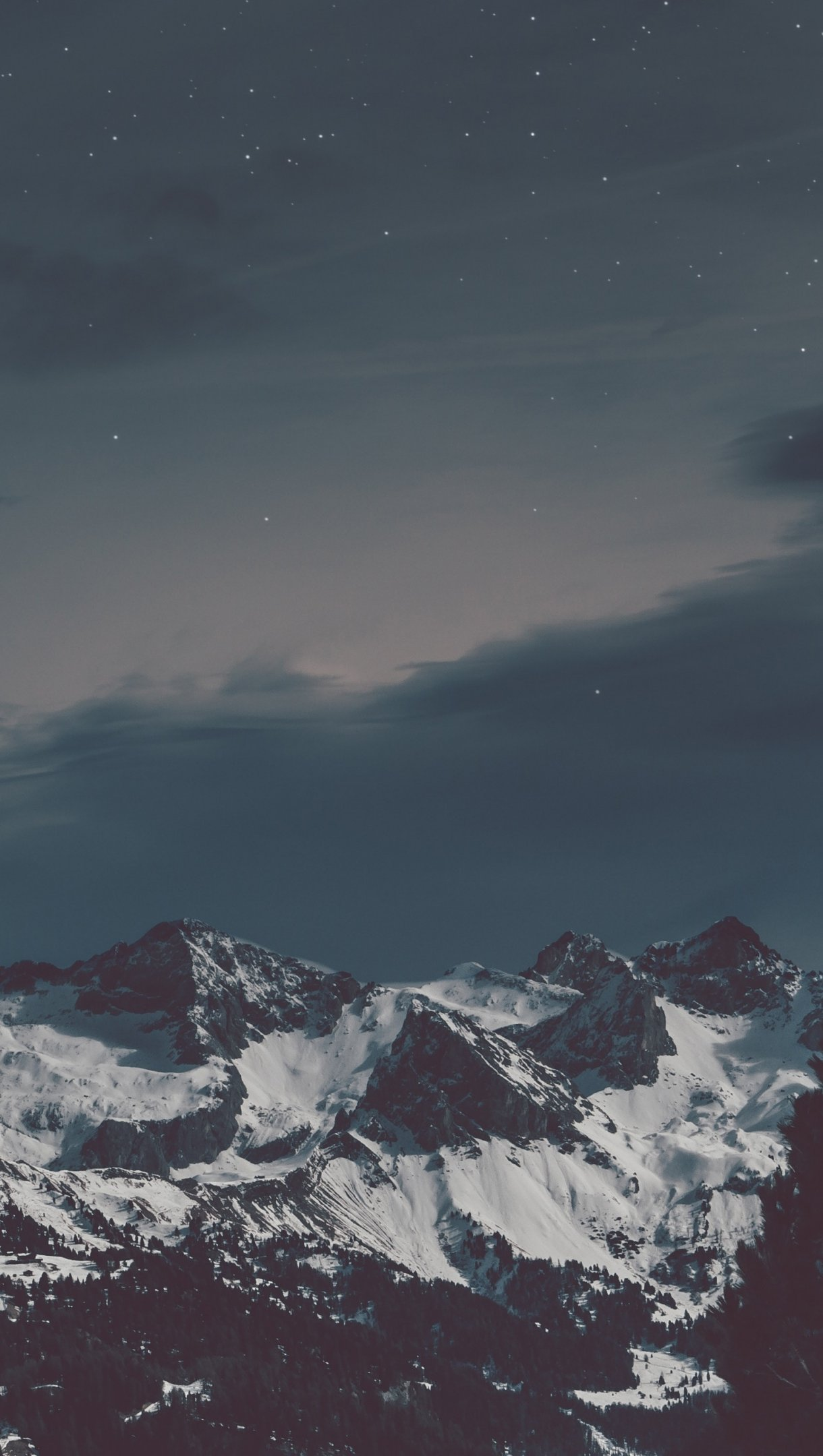 Fondos de pantalla Montañas nevadas Vertical
