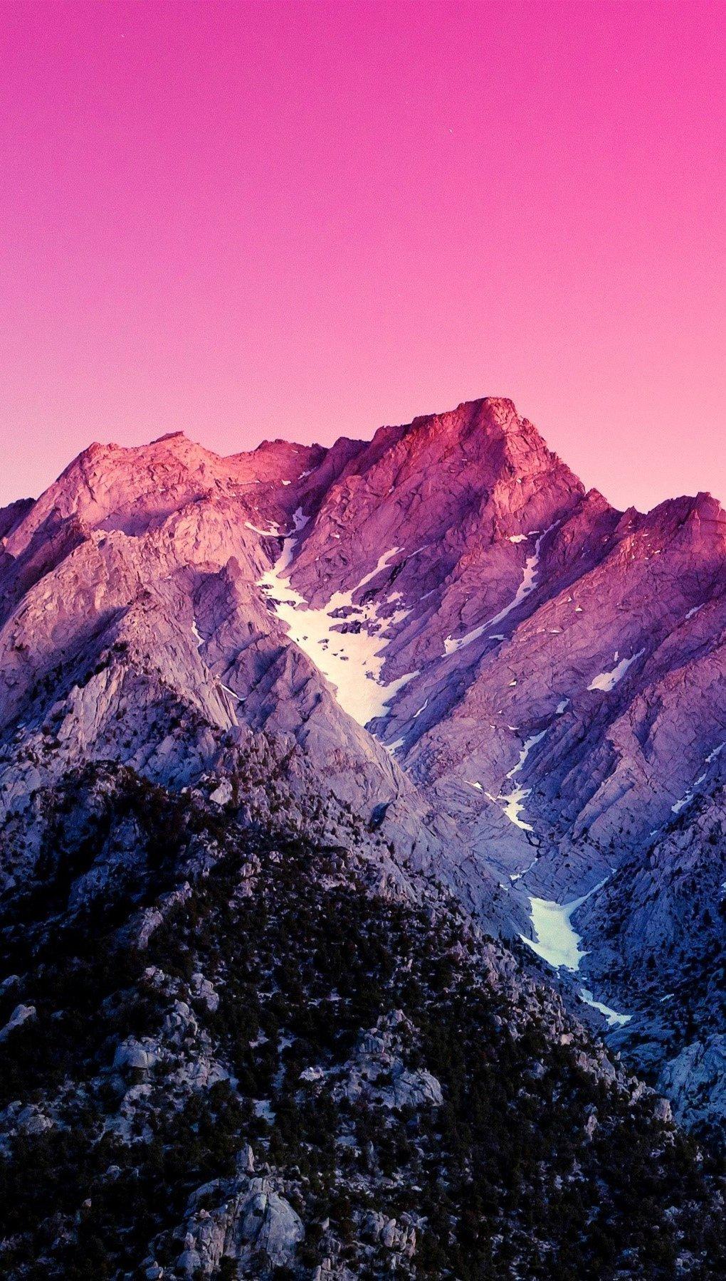 Fondos de pantalla Montañas rosas Vertical