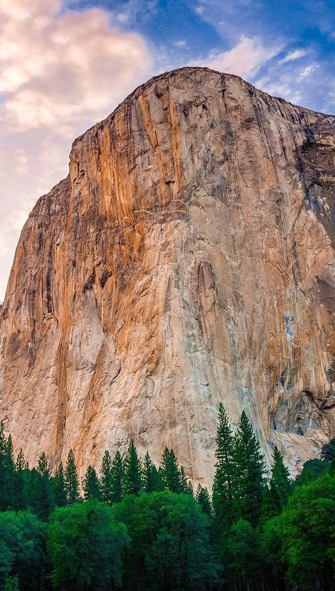 Wallpaper Yosemite Mountains Vertical